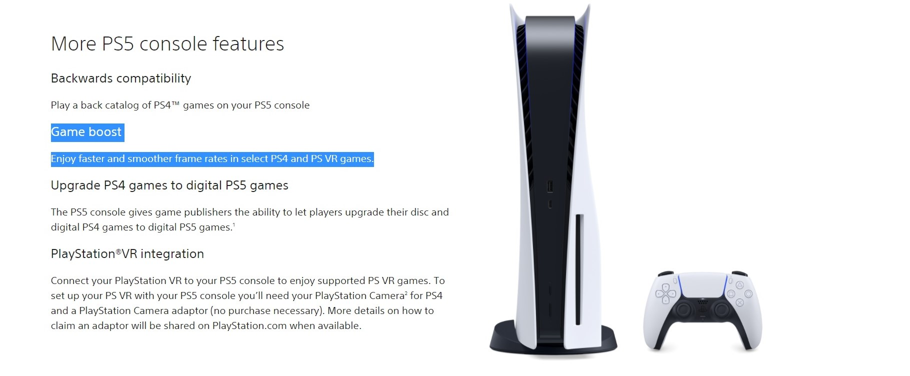 ps5 backward compatibility faster frame rates